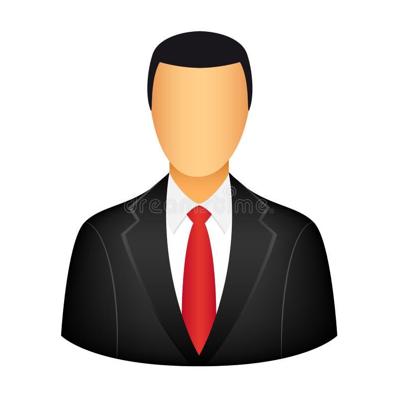 Ícone do homem de negócios ilustração royalty free