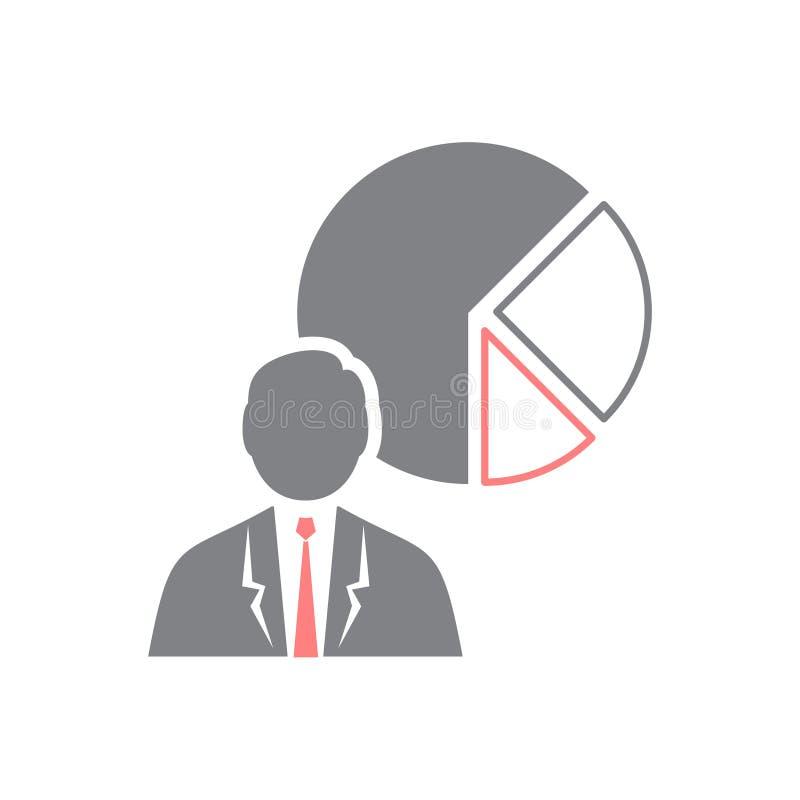 Ícone do homem de negócios no fundo branco para o gráfico e o design web, sinal simples moderno do vetor Conceito do Internet Sím ilustração stock