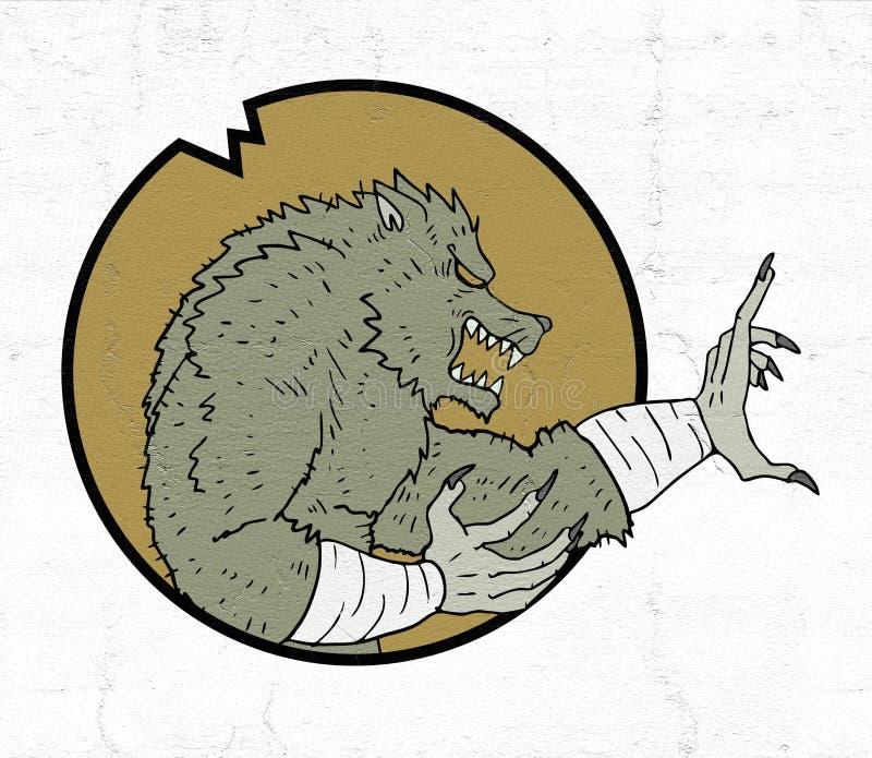 Ícone do homem do lobo ilustração stock