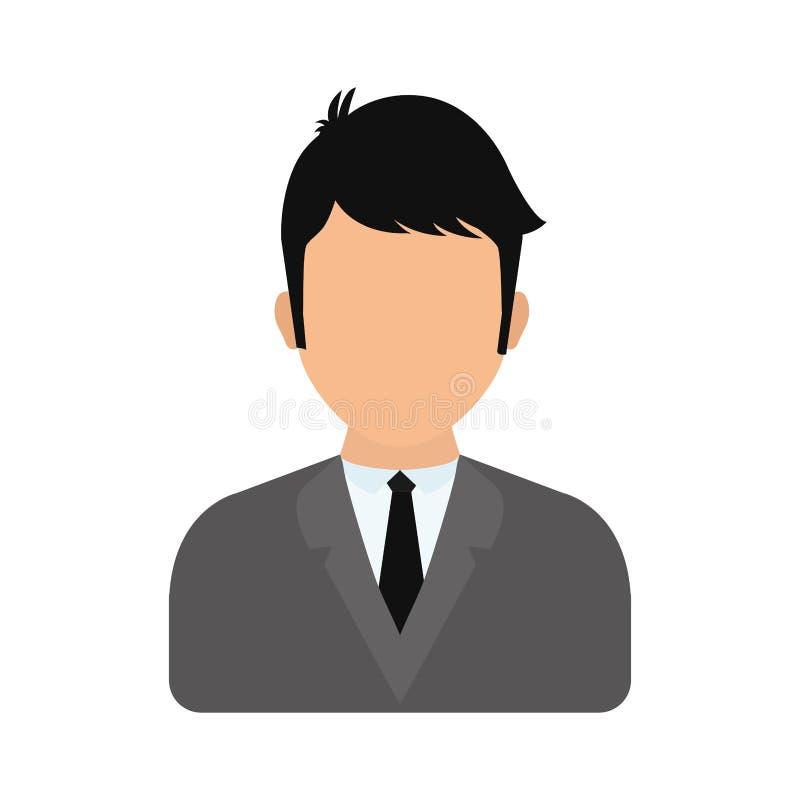 Ícone do homem projeto masculino do avatar Gráfico de vetor ilustração stock