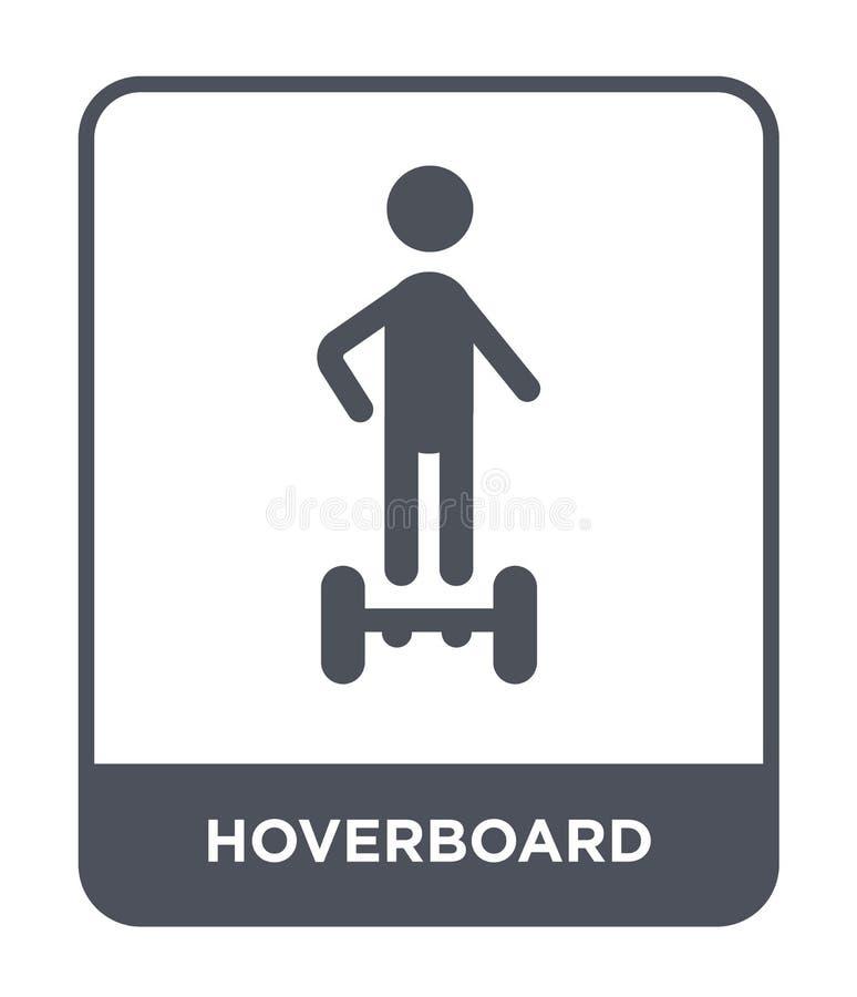 ícone do hoverboard no estilo na moda do projeto ícone do hoverboard isolado no fundo branco ícone do vetor do hoverboard simples ilustração royalty free
