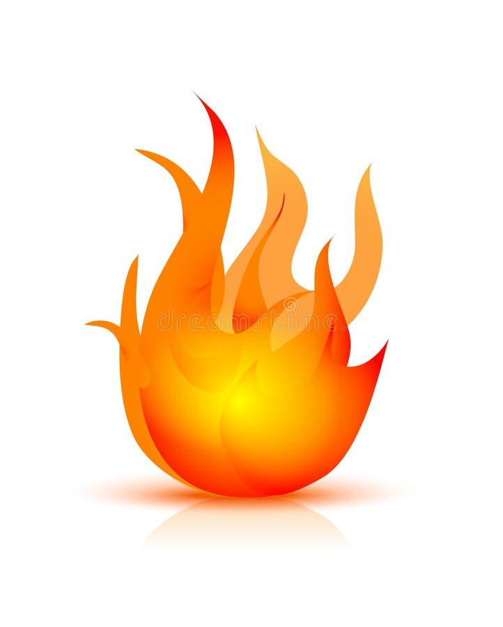Ícone do incêndio ilustração do vetor