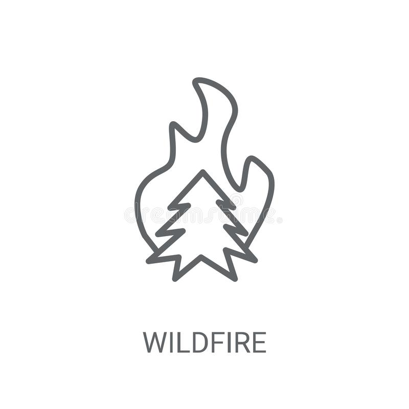 ícone do incêndio violento Conceito na moda do logotipo do incêndio violento no fundo branco ilustração do vetor
