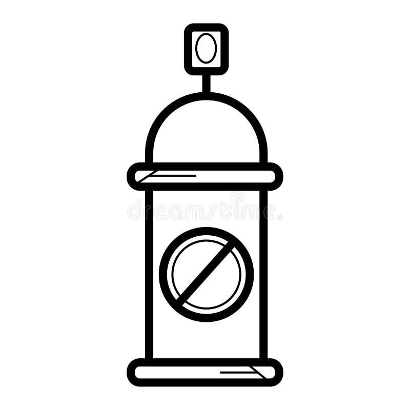 Ícone do inseticida ilustração do vetor