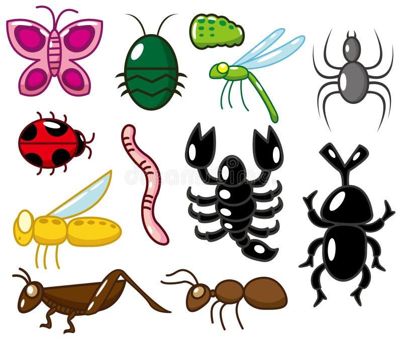 Ícone do inseto dos desenhos animados ilustração stock