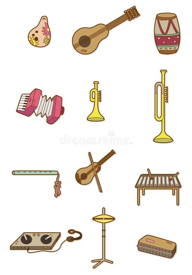 Ícone do instrumento musical dos desenhos animados ilustração stock