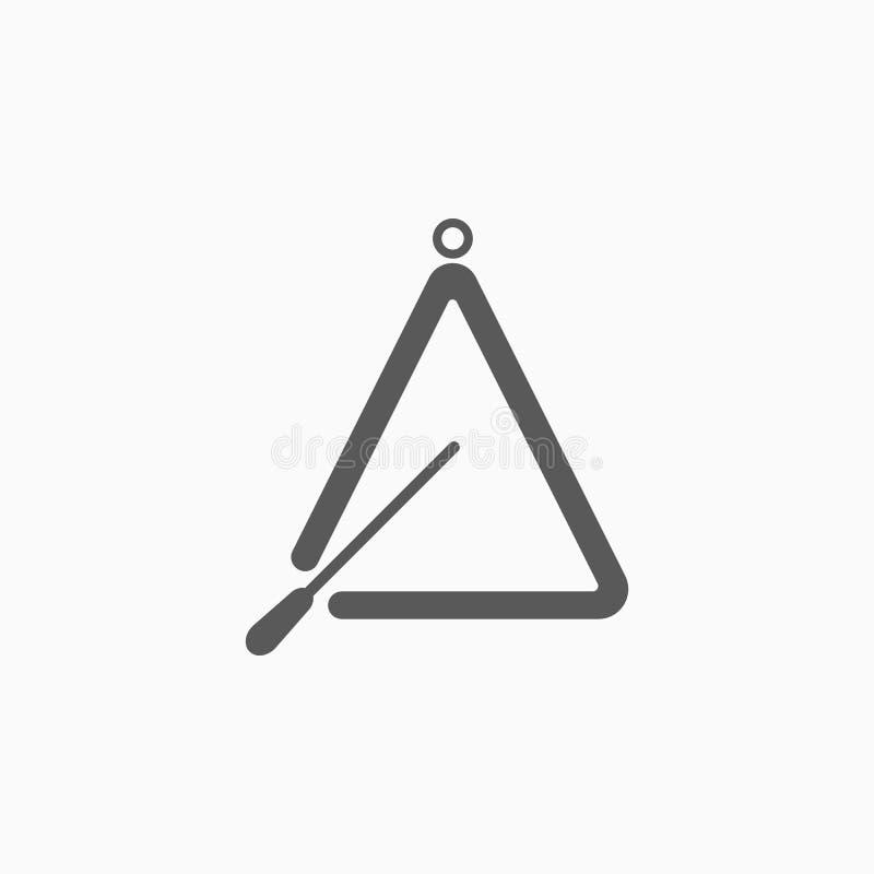 Ícone do instrumento do triângulo, música, percussão ilustração royalty free