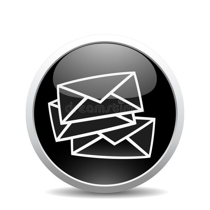 Ícone do Internet do correio de E ilustração stock