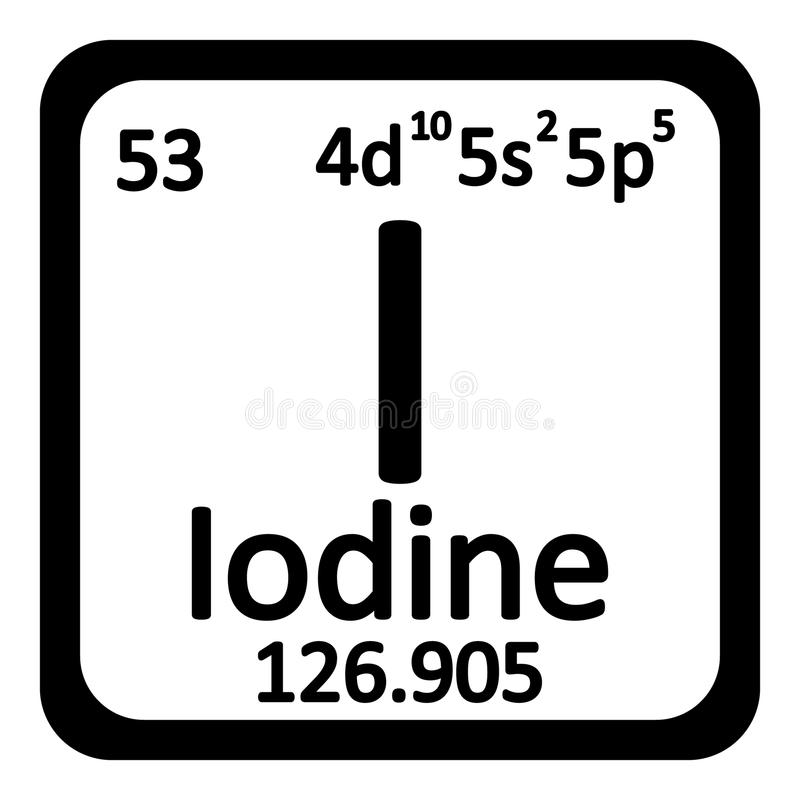 Ilustra%C3%A7%C3%A3o Stock %C3%ADcone Do Iodo Do Elemento De Tabela Peri%C3%B3dica Image78632897 on Iodine Periodic Table
