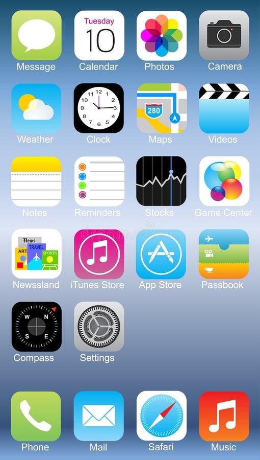 Ícone do iphone de Apple ilustração do vetor