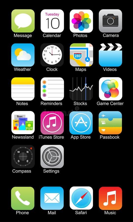Ícone do iphone de Apple ilustração stock