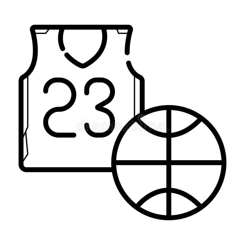 ícone do jérsei do basquetebol ilustração stock