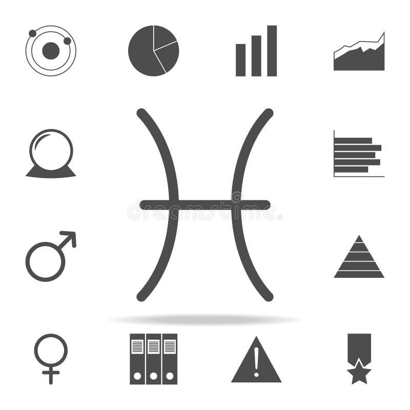 Ícone do Júpiter dos peixes do zodíaco grupo universal dos ícones da Web para a Web e o móbil ilustração royalty free