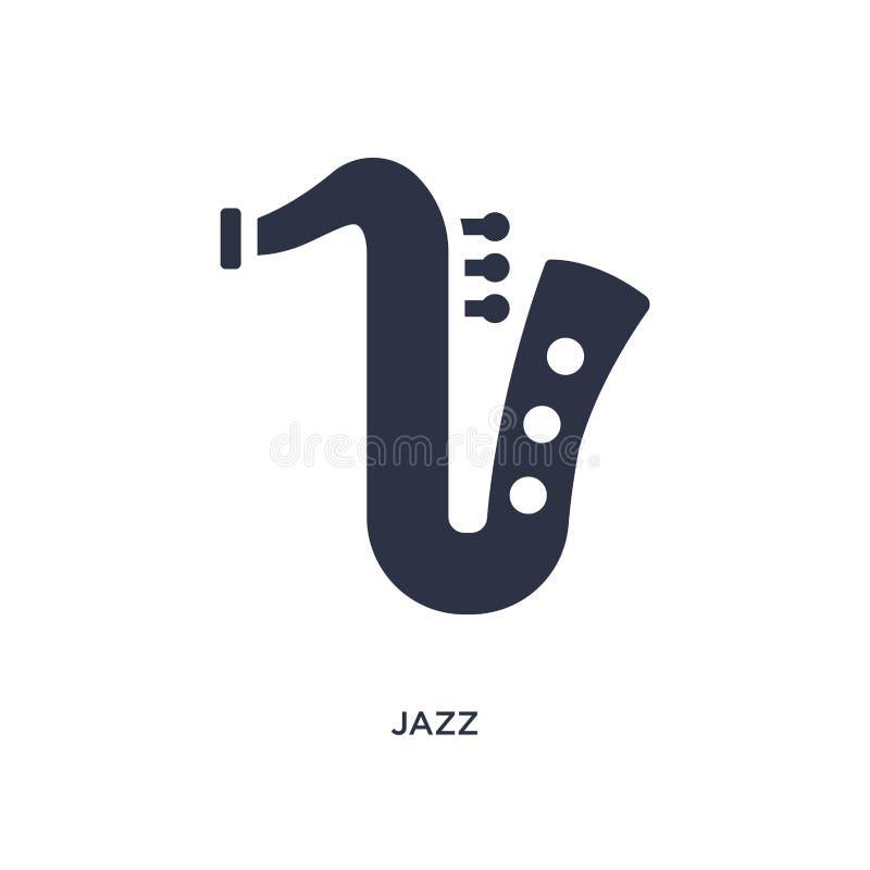 ícone do jazz no fundo branco Ilustração simples do elemento do conceito da música ilustração do vetor