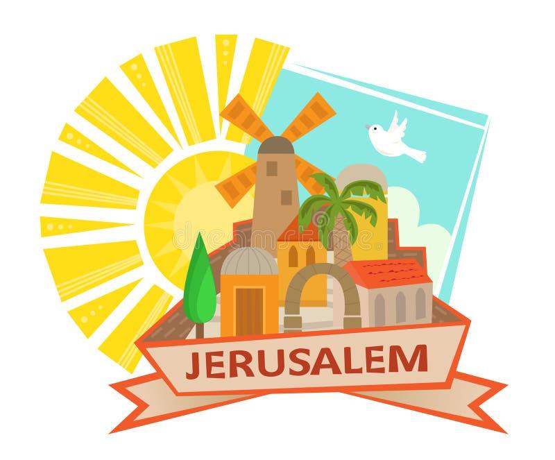 Ícone do Jerusalém ilustração royalty free