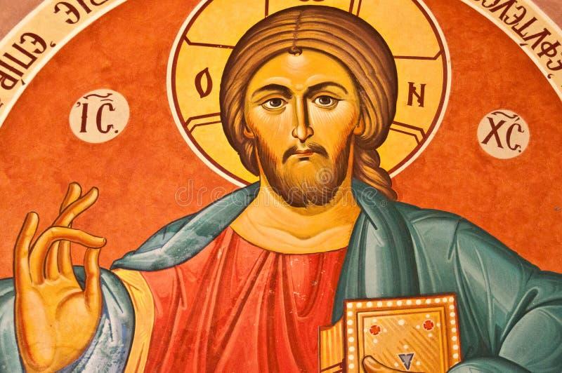 Ícone do Jesus Cristo em Chipre imagens de stock