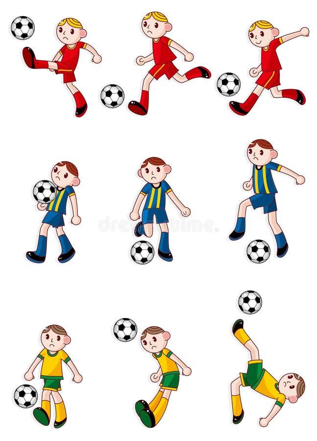 Ícone do jogador de futebol dos desenhos animados ilustração do vetor