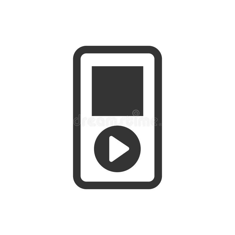 Ícone do jogador de música ilustração stock
