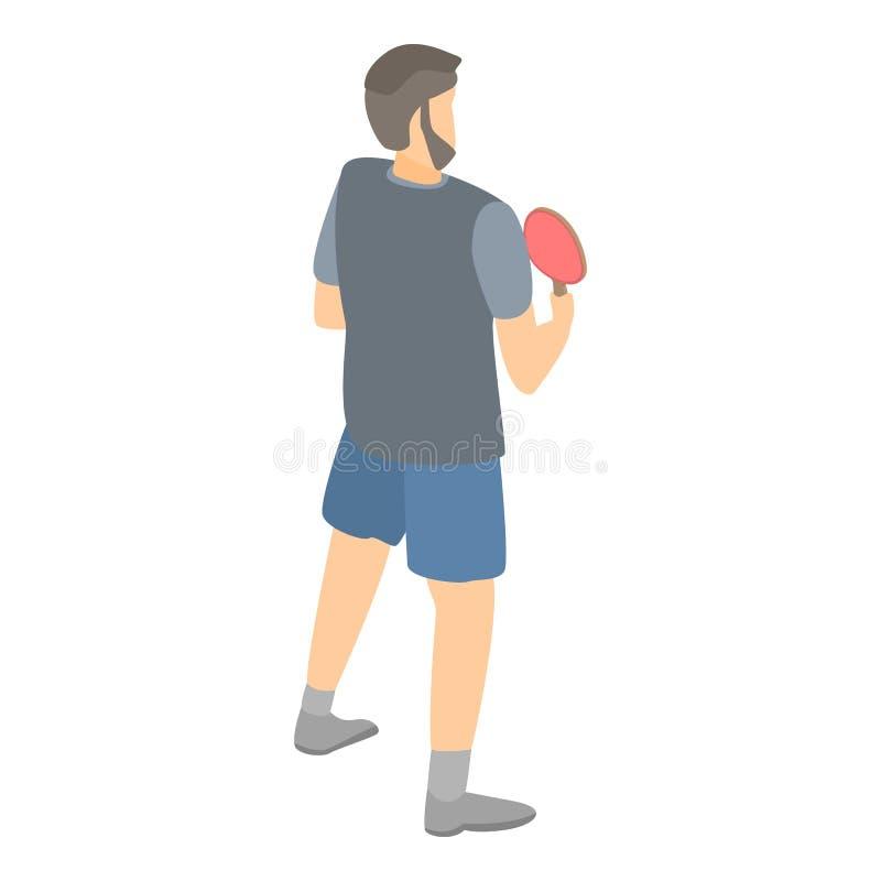 Ícone do jogador do pong do sibilo, estilo isométrico ilustração do vetor