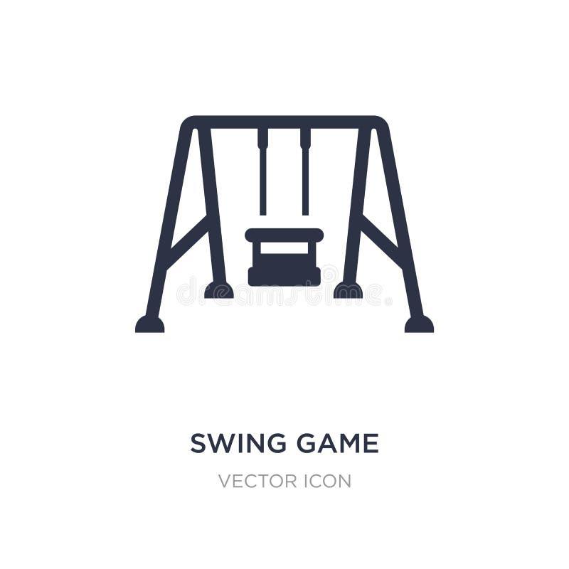 ícone do jogo do balanço no fundo branco Ilustração simples do elemento do outro conceito ilustração stock
