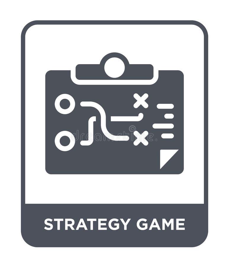 ícone do jogo da estratégia no estilo na moda do projeto ícone do jogo da estratégia isolado no fundo branco ícone do vetor do jo ilustração do vetor