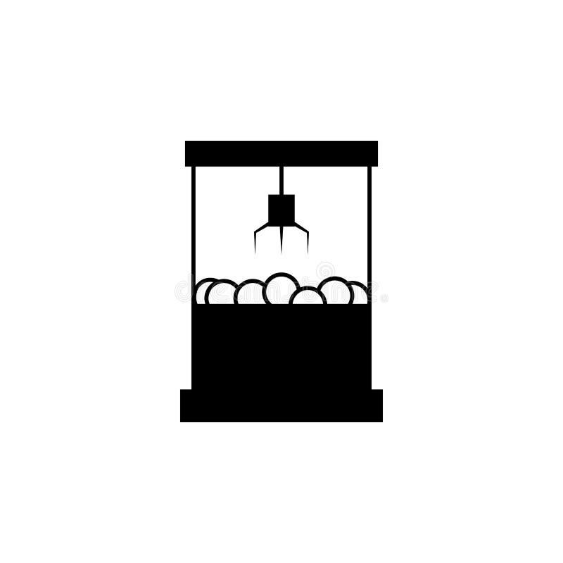 ícone do jogo da máquina da garra Apps do conceito e da Web do parque de diversões dos elementos Ícone para o projeto do Web site ilustração stock
