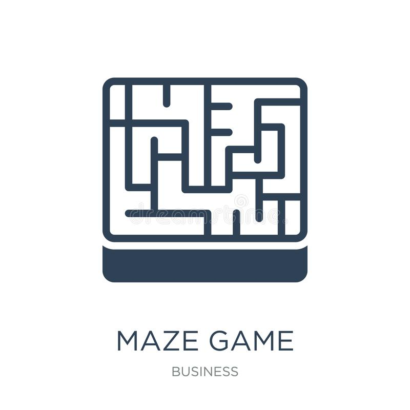 ícone do jogo do labirinto no estilo na moda do projeto ícone do jogo do labirinto isolado no fundo branco plano simples e modern ilustração royalty free