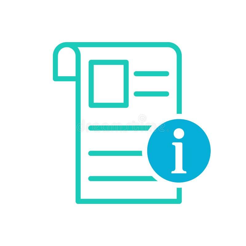 Ícone do jornal, eventos atuais, ícone da notícia com sinal da informação Ícone do jornal e aproximadamente, FAQ, ajuda, símbolo  ilustração do vetor
