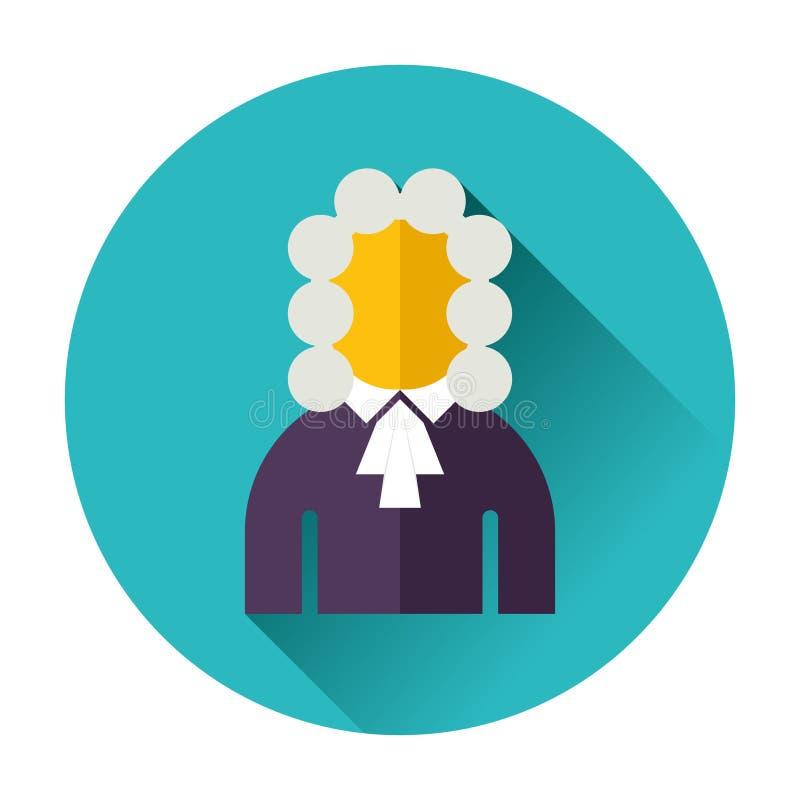 Ícone do juiz ilustração do vetor