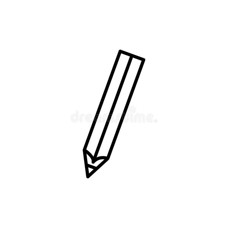 Ícone do lápis Ilustração do vetor ilustração royalty free