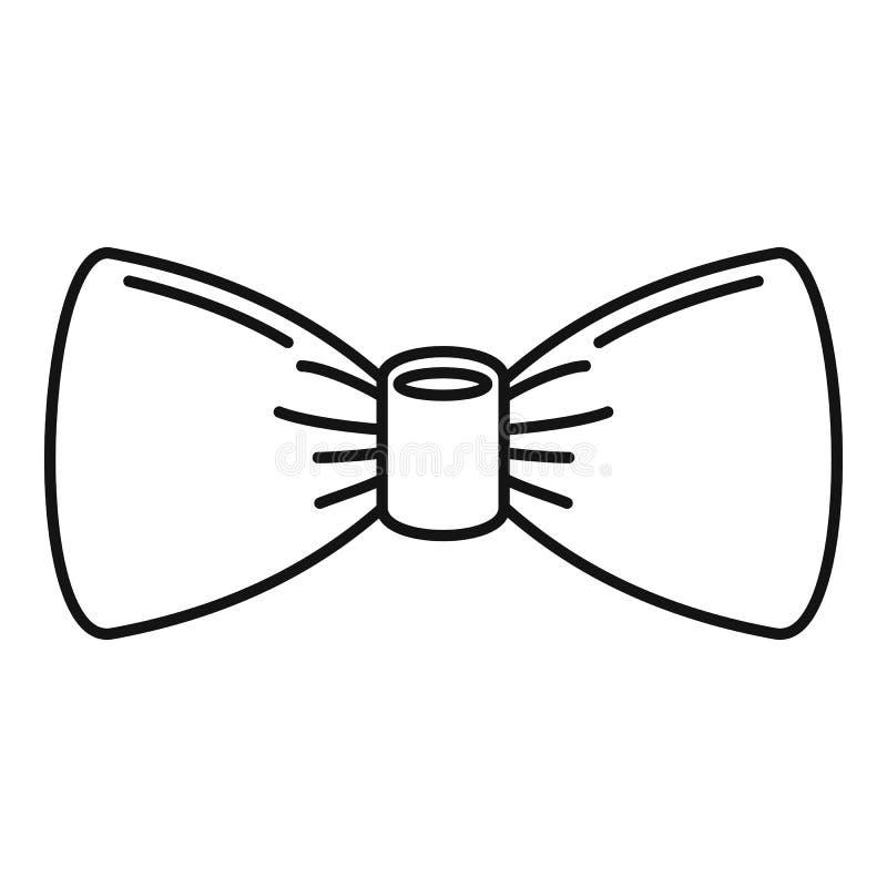 Ícone do laço de Oldfashion, estilo do esboço ilustração stock