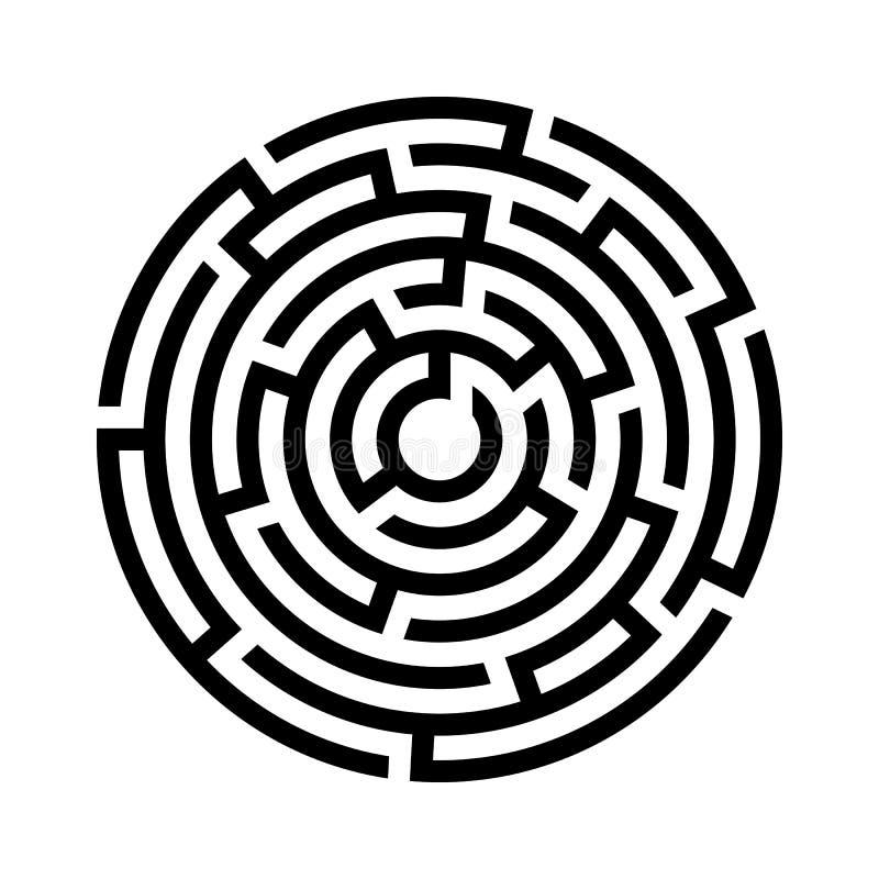 Ícone do labirinto do círculo ilustração stock