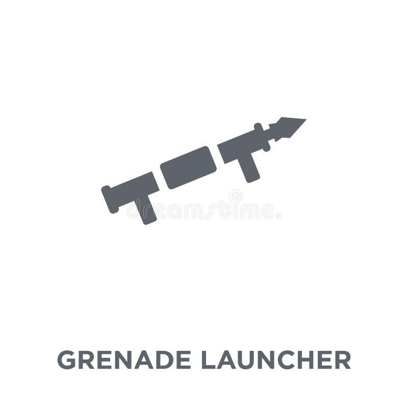 Ícone do lançador de granadas da coleção do exército ilustração do vetor