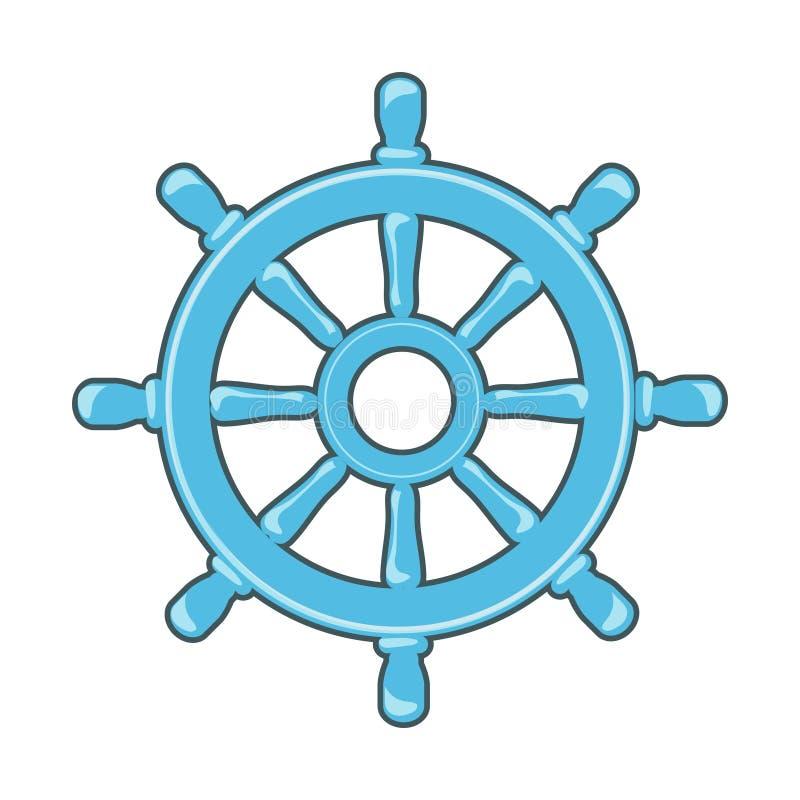 Ícone do leme ilustração royalty free