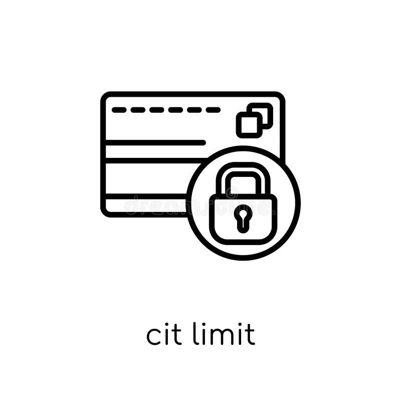 ícone do limite de crédito Limite de crédito linear liso moderno na moda do vetor ilustração stock