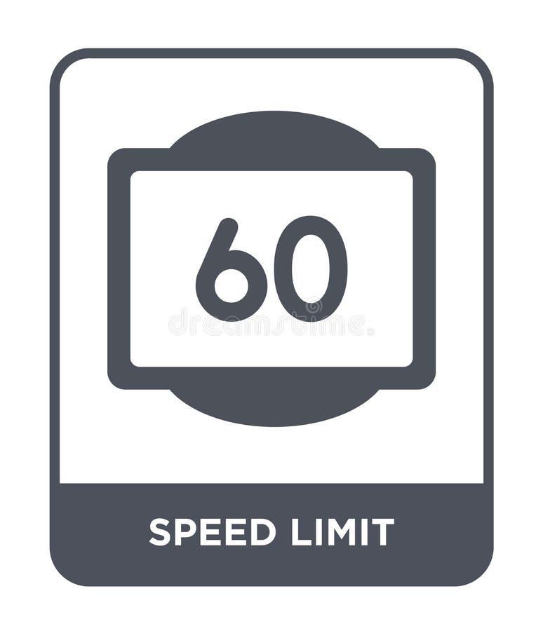 ícone do limite de velocidade no estilo na moda do projeto ícone do limite de velocidade isolado no fundo branco ícone do vetor d ilustração royalty free