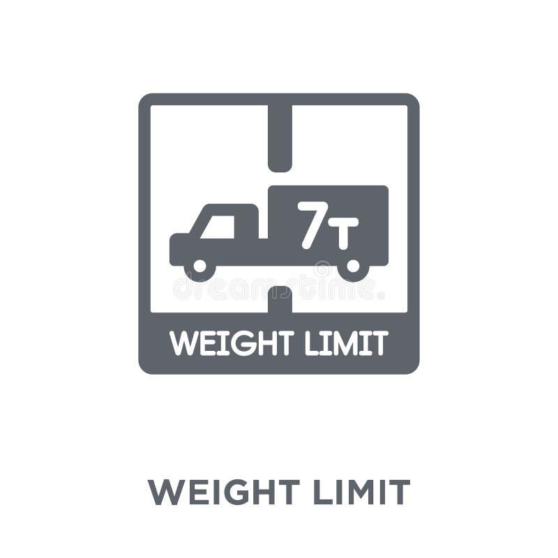 ícone do limite do peso da entrega e da coleção logística ilustração royalty free