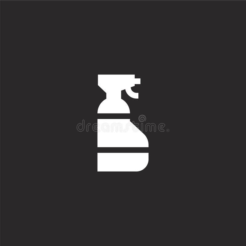 ícone do limpador de janelas Ícone de limpeza de janelas preenchido para design de sites e desenvolvimento de aplicações móveis í ilustração royalty free