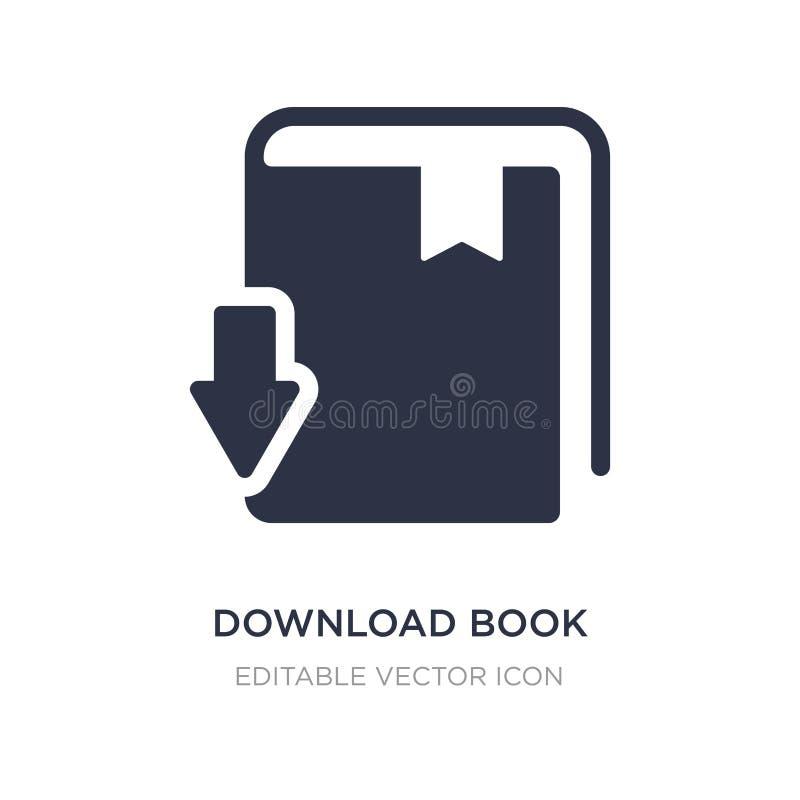 Ícone do livro da transferência no fundo branco Ilustração simples do elemento do conceito da educação ilustração royalty free