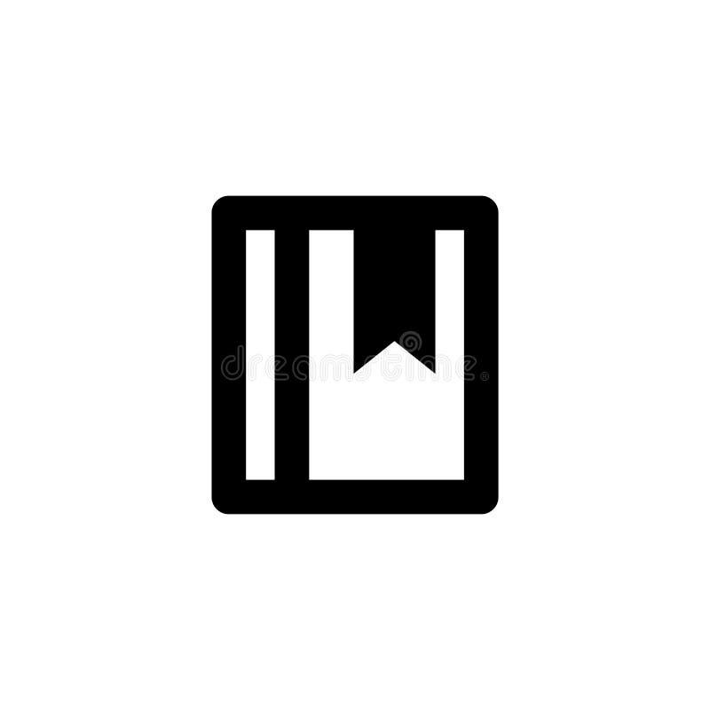 Ícone do livro Sinal do livro do número de telefone ilustração do vetor