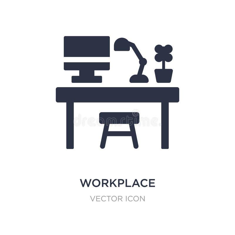 ícone do local de trabalho no fundo branco Ilustração simples do elemento do conceito do negócio e da analítica ilustração royalty free