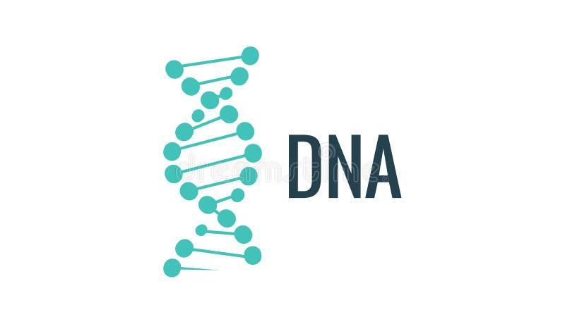 Ícone do logotipo do ADN do vetor Vida do gene ou projeto do mollecule Ilustração do conceito da biologia ilustração do vetor