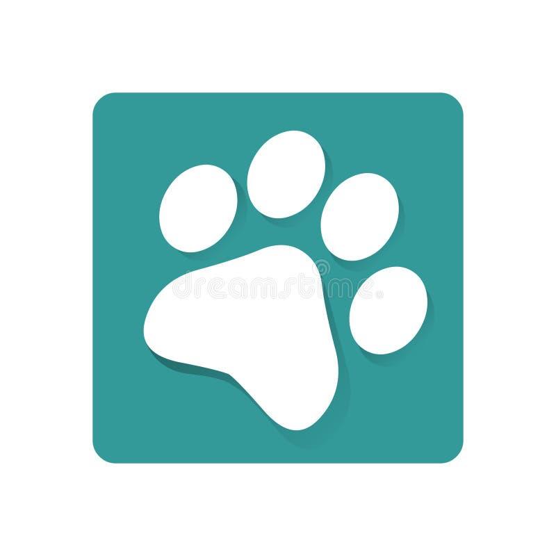 Ícone do logotipo da cópia da pata ilustração stock
