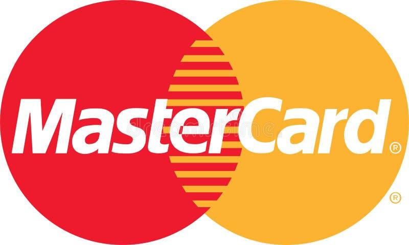 Ícone do logotipo da energia de MasterCard ilustração stock