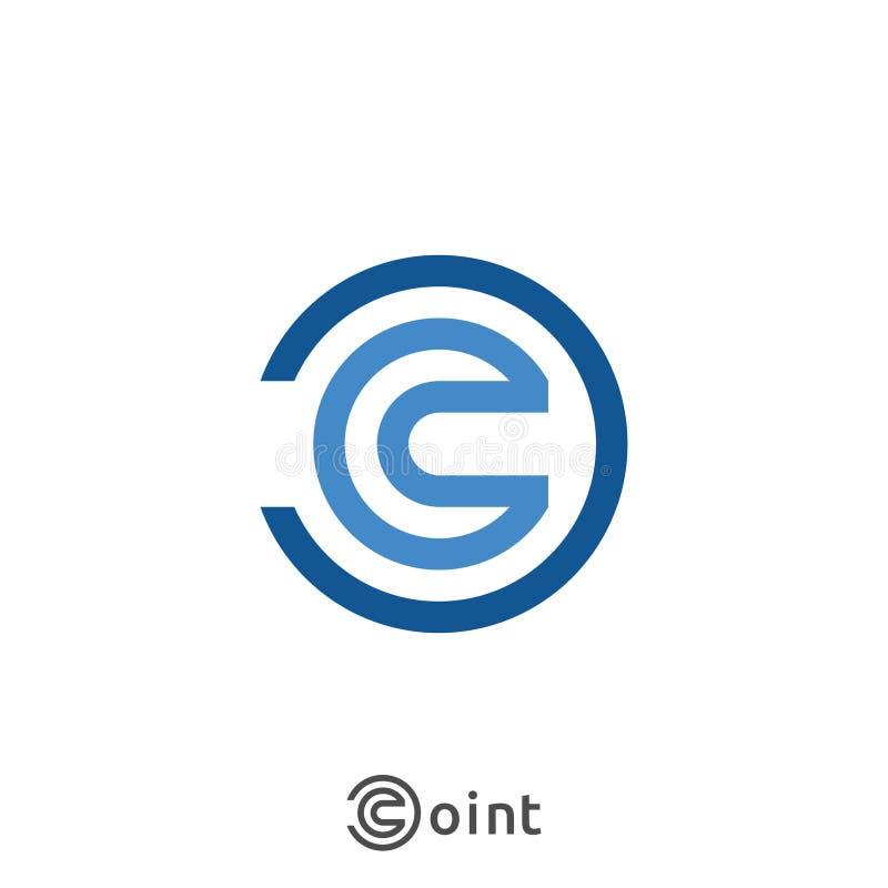 Ícone do logotipo da letra C Projeto abstrato do sinal do alfabeto para a empresa de negócio Ilustração ilustração stock
