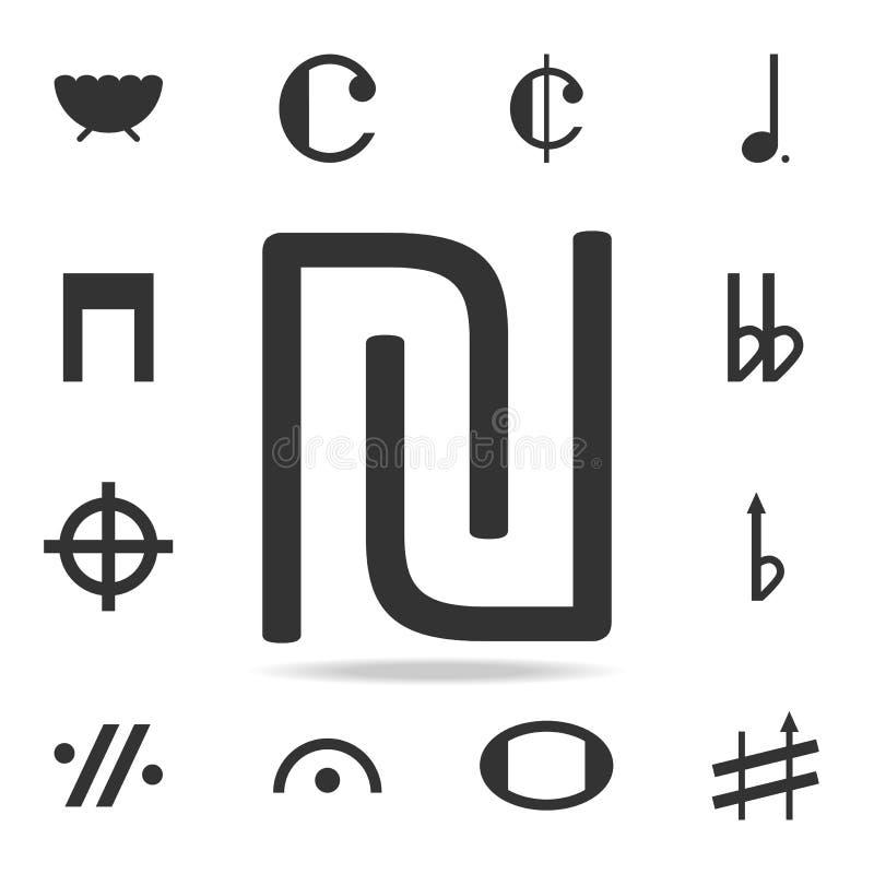 ícone do logotipo da letra inicial U e do N Grupo detalhado de ícones e de sinais da Web Projeto gráfico superior Um dos ícones d ilustração stock