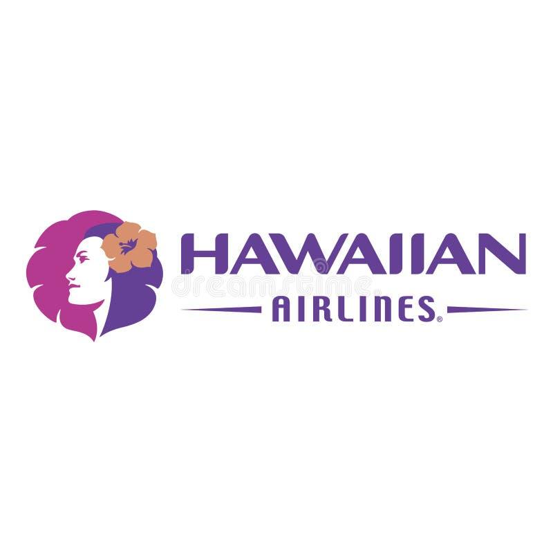 Ícone do logotipo de Hawaiian Airlines ilustração do vetor