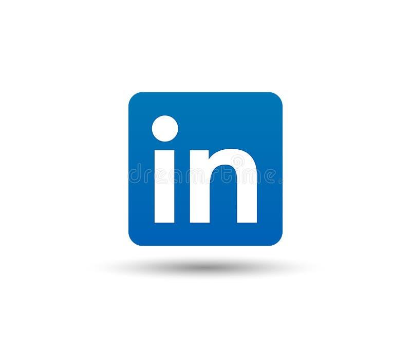 Ícone do logotipo de Linkedin Símbolo social dos meios Contatos comerciais Vetor ilustração do vetor