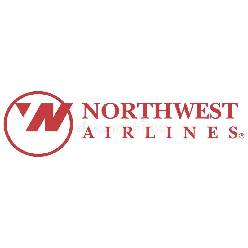 Ícone do logotipo de Northwest Airlines ilustração royalty free