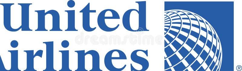 Ícone do logotipo de United Airlines ilustração do vetor